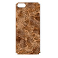 Brown Seamless Animal Fur Pattern Apple Iphone 5 Seamless Case (white) by Simbadda