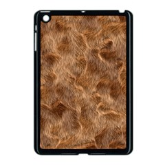 Brown Seamless Animal Fur Pattern Apple Ipad Mini Case (black) by Simbadda