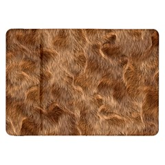 Brown Seamless Animal Fur Pattern Samsung Galaxy Tab 8 9  P7300 Flip Case by Simbadda