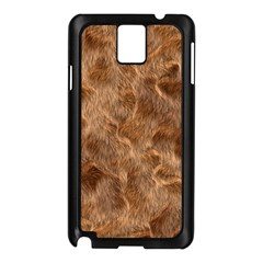 Brown Seamless Animal Fur Pattern Samsung Galaxy Note 3 N9005 Case (black) by Simbadda