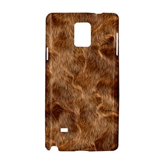 Brown Seamless Animal Fur Pattern Samsung Galaxy Note 4 Hardshell Case