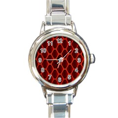 Snake Abstract Pattern Round Italian Charm Watch