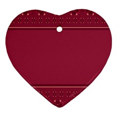 Heart Pattern Background In Dark Pink Heart Ornament (two Sides)
