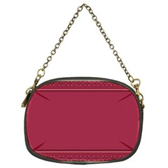Heart Pattern Background In Dark Pink Chain Purses (two Sides)