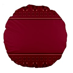 Heart Pattern Background In Dark Pink Large 18  Premium Round Cushions by Simbadda