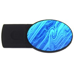 Vintage Pattern Background Wallpaper Usb Flash Drive Oval (2 Gb)