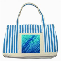 Vintage Pattern Background Wallpaper Striped Blue Tote Bag by Simbadda