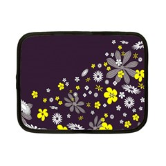Vintage Retro Floral Flowers Wallpaper Pattern Background Netbook Case (small)