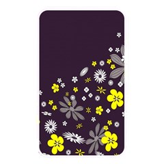 Vintage Retro Floral Flowers Wallpaper Pattern Background Memory Card Reader by Simbadda