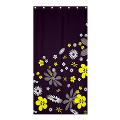 Vintage Retro Floral Flowers Wallpaper Pattern Background Shower Curtain 36  X 72  (stall)  by Simbadda