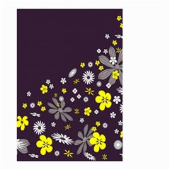 Vintage Retro Floral Flowers Wallpaper Pattern Background Small Garden Flag (two Sides) by Simbadda