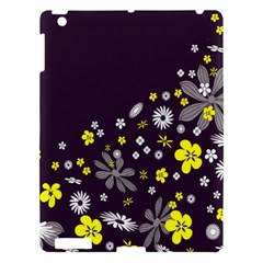 Vintage Retro Floral Flowers Wallpaper Pattern Background Apple Ipad 3/4 Hardshell Case by Simbadda