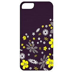 Vintage Retro Floral Flowers Wallpaper Pattern Background Apple Iphone 5 Classic Hardshell Case by Simbadda