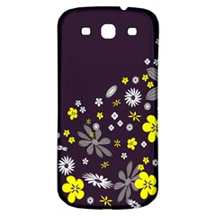 Vintage Retro Floral Flowers Wallpaper Pattern Background Samsung Galaxy S3 S Iii Classic Hardshell Back Case by Simbadda
