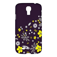 Vintage Retro Floral Flowers Wallpaper Pattern Background Samsung Galaxy S4 I9500/i9505 Hardshell Case by Simbadda