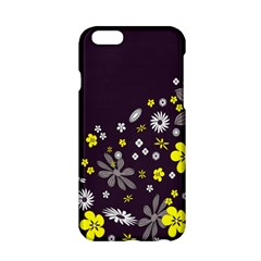 Vintage Retro Floral Flowers Wallpaper Pattern Background Apple Iphone 6/6s Hardshell Case by Simbadda