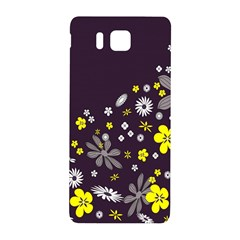 Vintage Retro Floral Flowers Wallpaper Pattern Background Samsung Galaxy Alpha Hardshell Back Case by Simbadda