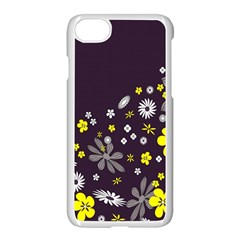 Vintage Retro Floral Flowers Wallpaper Pattern Background Apple Iphone 7 Seamless Case (white)