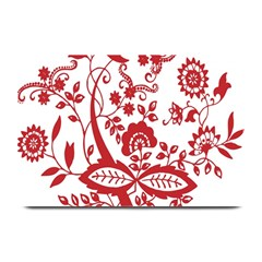 Red Vintage Floral Flowers Decorative Pattern Clipart Plate Mats by Simbadda
