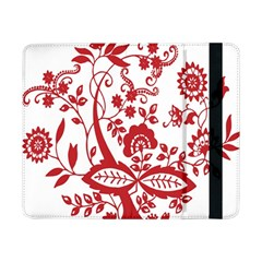 Red Vintage Floral Flowers Decorative Pattern Clipart Samsung Galaxy Tab Pro 8 4  Flip Case
