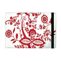 Red Vintage Floral Flowers Decorative Pattern Clipart Ipad Mini 2 Flip Cases by Simbadda