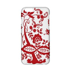 Red Vintage Floral Flowers Decorative Pattern Clipart Apple Iphone 6/6s Hardshell Case by Simbadda