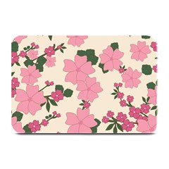 Vintage Floral Wallpaper Background In Shades Of Pink Plate Mats by Simbadda