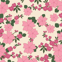 Vintage Floral Wallpaper Background In Shades Of Pink Magic Photo Cubes by Simbadda