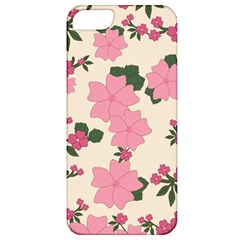 Vintage Floral Wallpaper Background In Shades Of Pink Apple Iphone 5 Classic Hardshell Case by Simbadda
