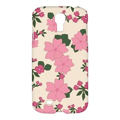 Vintage Floral Wallpaper Background In Shades Of Pink Samsung Galaxy S4 I9500/i9505 Hardshell Case
