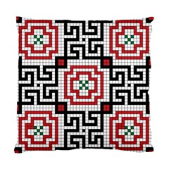 Vintage Style Seamless Black White And Red Tile Pattern Wallpaper Background Standard Cushion Case (one Side) by Simbadda