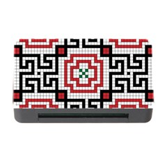 Vintage Style Seamless Black White And Red Tile Pattern Wallpaper Background Memory Card Reader With Cf by Simbadda