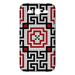 Vintage Style Seamless Black White And Red Tile Pattern Wallpaper Background Samsung Galaxy Mega 5 8 I9152 Hardshell Case  by Simbadda
