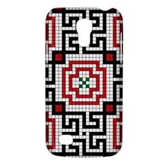 Vintage Style Seamless Black White And Red Tile Pattern Wallpaper Background Galaxy S4 Mini