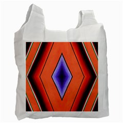 Diamond Shape Lines & Pattern Recycle Bag (two Side)  by Simbadda