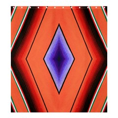 Diamond Shape Lines & Pattern Shower Curtain 66  X 72  (large)