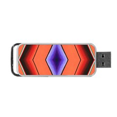 Diamond Shape Lines & Pattern Portable Usb Flash (two Sides)