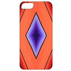 Diamond Shape Lines & Pattern Apple Iphone 5 Classic Hardshell Case by Simbadda