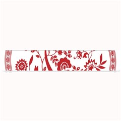 Red Vintage Floral Flowers Decorative Pattern Small Bar Mats by Simbadda