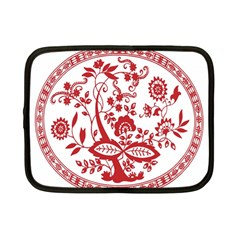 Red Vintage Floral Flowers Decorative Pattern Netbook Case (small)  by Simbadda