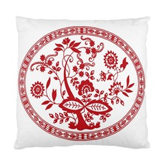 Red Vintage Floral Flowers Decorative Pattern Standard Cushion Case (one Side) by Simbadda