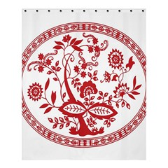 Red Vintage Floral Flowers Decorative Pattern Shower Curtain 60  X 72  (medium)  by Simbadda