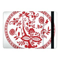 Red Vintage Floral Flowers Decorative Pattern Samsung Galaxy Tab Pro 10 1  Flip Case by Simbadda