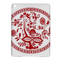 Red Vintage Floral Flowers Decorative Pattern Ipad Air 2 Hardshell Cases by Simbadda