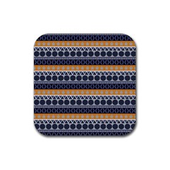 Abstract Elegant Background Pattern Rubber Square Coaster (4 Pack)  by Simbadda