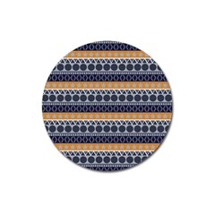 Abstract Elegant Background Pattern Magnet 3  (round) by Simbadda
