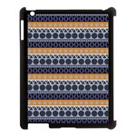 Abstract Elegant Background Pattern Apple iPad 3/4 Case (Black) Front