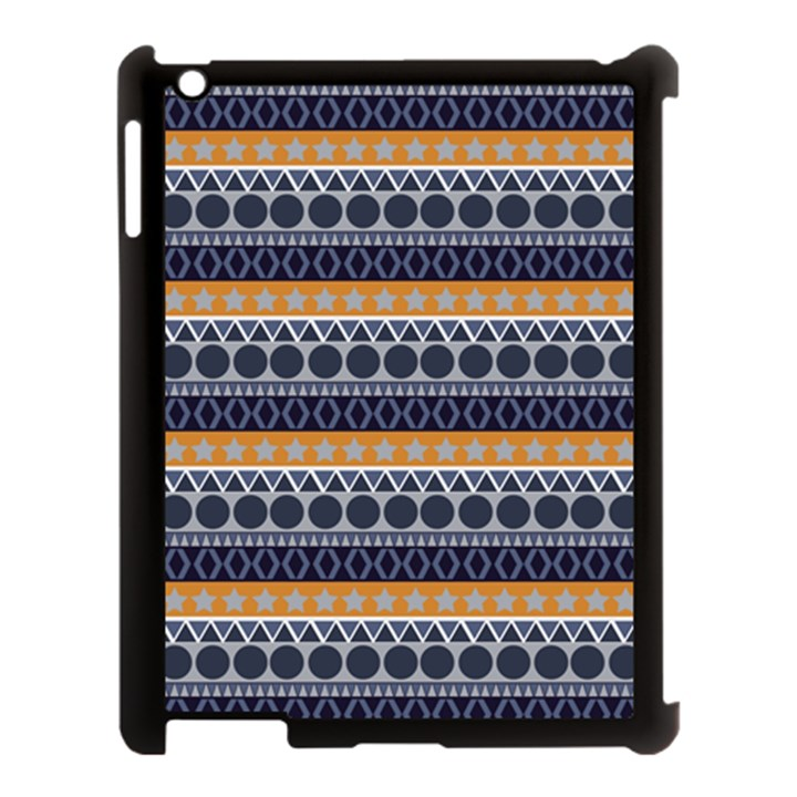 Abstract Elegant Background Pattern Apple iPad 3/4 Case (Black)