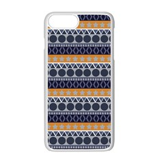 Abstract Elegant Background Pattern Apple Iphone 7 Plus White Seamless Case