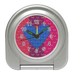 Butterfly Heart Pattern Travel Alarm Clocks by Simbadda